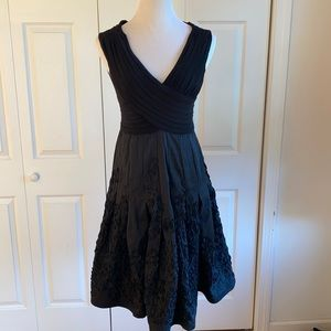 Adrianna Papell Black Formal Fit & Flare Dress Size 10P